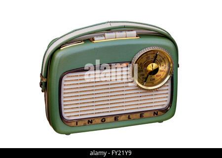 Old portable radio, 1950s - Stock Photo