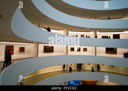 The interior of the Solomon R. Guggenheim Museum, Manhattan New York
