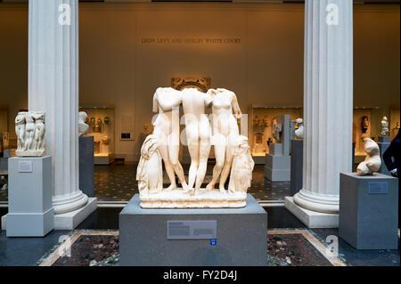 Greek and Roman Art Wing. The Metropolitan Museum of Art. Manhattan New York - Stock Photo