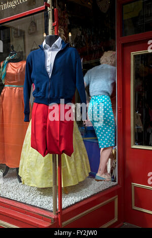 vintage clothes on display at a branch of armstrong s