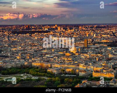 The Pantheon, aerial view. Paris, France. - Stock Photo