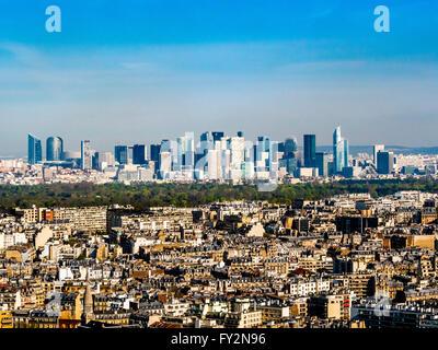 La Defense, Business district, Paris, France. - Stock Photo