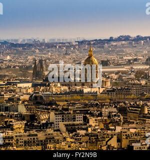 Aerial view of Les Invalides, Paris, France. - Stock Photo
