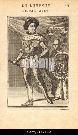KING JOHN/JAN III SOBIESKI OF POLAND-LITHUANIA: Armour Coat of arms. MALLET 1683 - Stock Photo