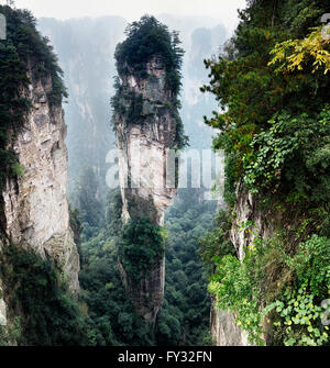 Mountain spire at Zhangjiajie National Forest Park, Zhangjiajie, Hunan, China - Stock Photo