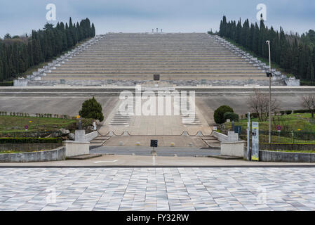 Largest military cemetery in Italy, Sacrario di Redipuglia, World War I, Isonzo, fascist monumental architecture - Stock Photo