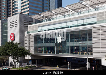 Apple Store in the IFC Mall, International Finance Centre, District Central, Hong Kong Island, Hong Kong, China - Stock Photo
