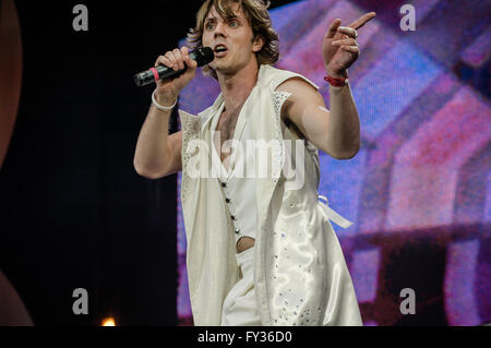 jack Shears if Scissor Sisters performing at Live 8, Hyde Park, London. 2 July 2005 - Stock Photo