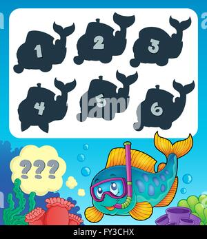 Fish riddle theme image 9 - picture illustration. - Stock Photo
