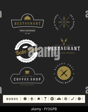 Logotypes set. Vector elements, business signs, logos, identity, labels, badges and objects. - Stock Photo