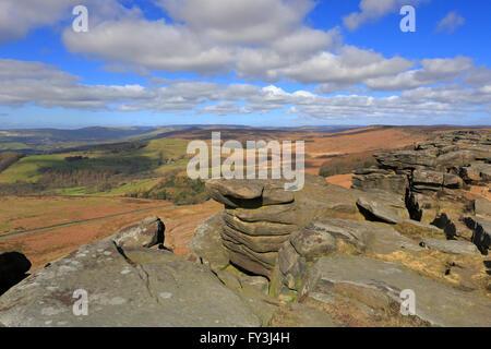 Stanage Edge Peak District National Park Derbyshire England UK - Stock Photo