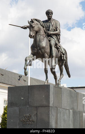 Warsaw, Poland. 21st Apr, 2016. The Monument to Prince Jozef Poniatowski in Warsaw is a monument located at 46/48 - Stock Photo