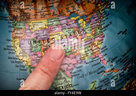 Pointing At The USA On A Globe Stock Photo Royalty Free Image - Globe of usa