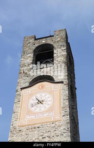 Civic tower in Bergamo, Italy - Stock Photo
