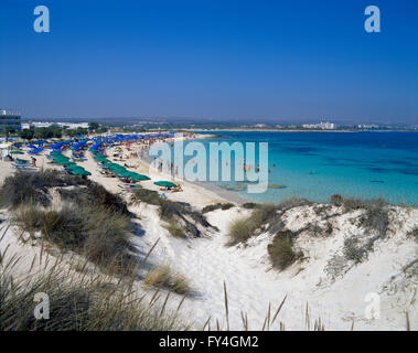 Ayia Napa, beach, South CYPRUS, Europe - Stock Photo