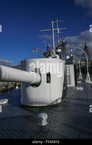 HMS M.33 was built in 1915 as a floating gun platform or coastal bombardment. She saw service at Gallipoli. - Stock Photo
