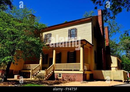 Raleigh, North Carolina:  South front with porch at historic Mordecai Plantation House  * - Stock Photo