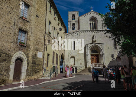 Courtyard at Cathedral Notre Dame du Puy in Grasse - Stock Photo