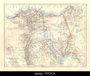 Lower Egypt Nile Valley Delta BARTHOLOMEW Antique Map - Map of egypt 1920