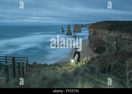 12 Apostles on the Great Ocean Road - Australia - Stock Photo