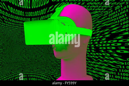 Symbolbild VR/ Virtuelle Realitaet - Datenbrille.