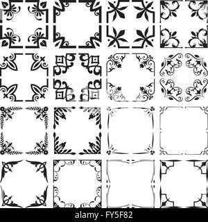 Collection Of Decorative Corners And Frames Stock Vector Art