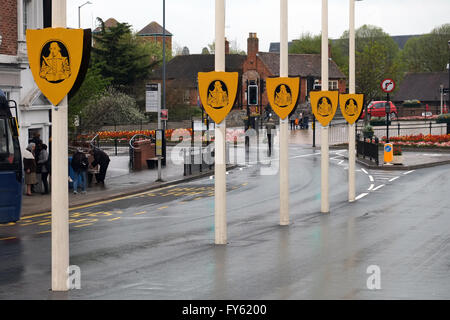 Stratford-upon-Avon, UK. 22th April, 2016. General image of Stratford-upon-Avon town centre, as the town prepares - Stock Photo