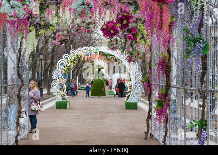 Moscow, Russia. 22 April, 2016. The opening of the Moscow Spring Festival in center of Moscow, Russia Credit:  Nikolay - Stock Photo