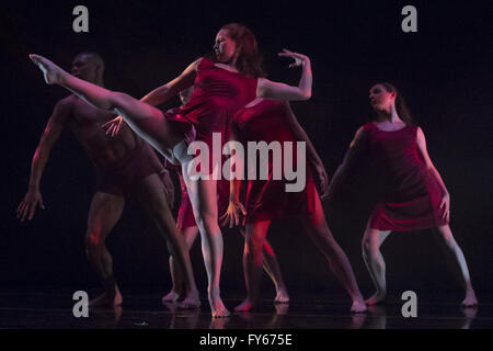 Kansas City, Missouri, USA. 5th Mar, 2016. ''.and then there were Five'' is choreographed by Sabrina Madison-Cannon - Stock Photo