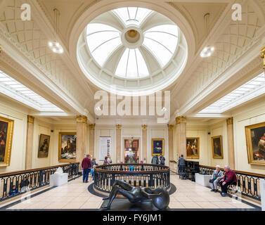 Interior of the Walker Art Gallery, Liverpool, England, UK - Stock Photo