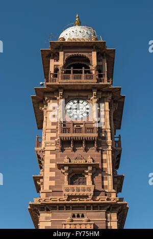 Ghanta Ghar clock tower, Jodhpur, Rajasthan, India - Stock Photo