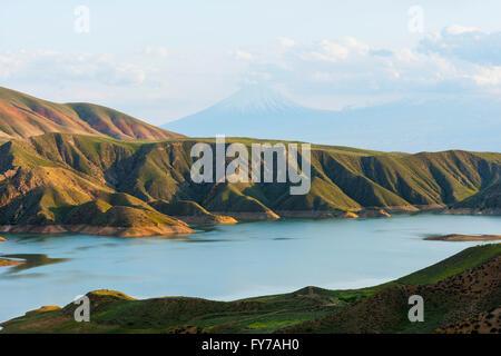 Eurasia, Caucasus region, Armenia, Lesser Ararat (3925m) near Mt Ararat in Turkey photographed from Armenia - Stock Photo
