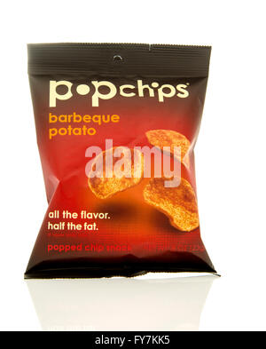 Winneconne, WI - 17 Feb 2016: Bag of Pop Chips in barbeque flavor. - Stock Photo