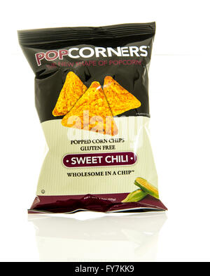 Winneconne, WI - 17 Feb 2016: Bag of Popcorners chips in sweet chili flavor. - Stock Photo