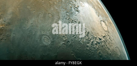 Surface of the Mars. Elements of this image furnished by NASA - Stock Photo