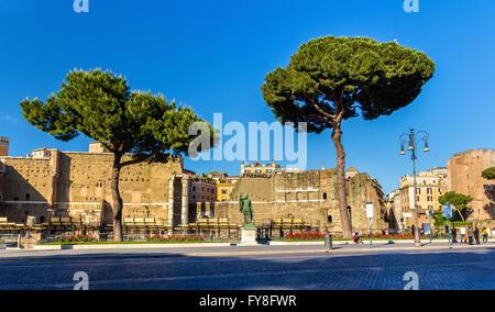 Statue of emperor Nerva in Rome - Stock Photo