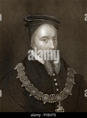Thomas Stanley, 1st Earl of Derby, 1435-1504, an English nobleman and stepfather to King Henry VII of England - Stock Photo