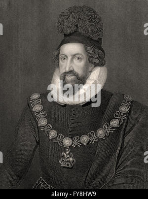 Admiral Thomas Howard, 1st Earl of Suffolk, 1561-1626, an English aristocrat - Stock Photo