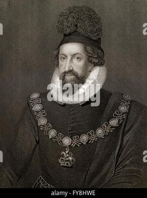 Admiral Thomas Howard, 1st Earl of Suffolk, 1561-1626, an English aristocrat - Stock Photo