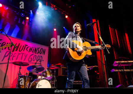 Eric Hutchinson opening for Rachel Platten @ The Vogue Theatre in Vancouver, BC on March 28th 2016 - Stock Photo