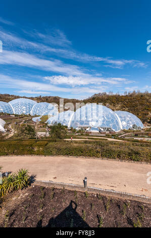 eden project in cornwall uk - Stock Photo