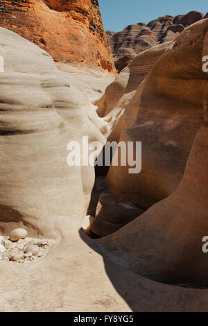 Closeup of a part of the piccaninny creek riverbed - Stock Photo