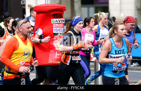 London, UK. 24th April, 2016. General Views at 2016 London Marathon near Canary Wharf in London, UK. © Stills Press/Alamy - Stock Photo