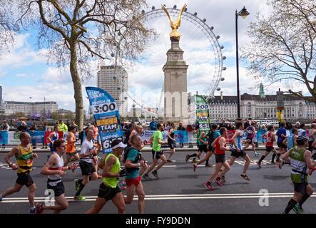 The Virgin Money London Marathon 2016, London England United Kingdom UK - Stock Photo