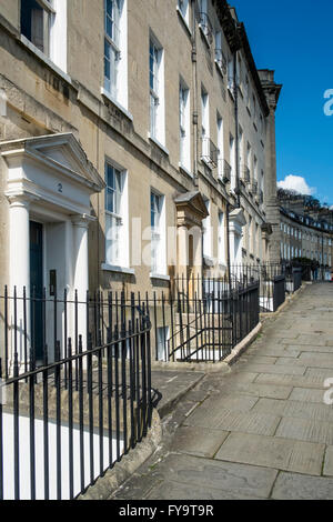 Bath Somerset England UK Camden Crescent Georgian Bath - Stock Photo