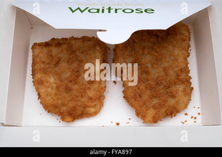 Waitrose fresh Cod breaded fish - Stock Photo
