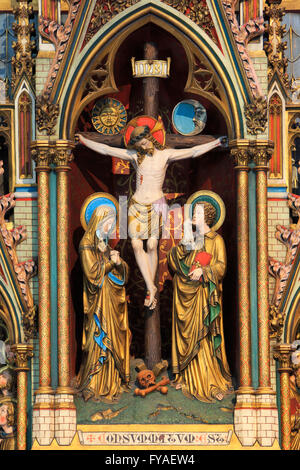 Statue of Jesus Christ on the cross at the Church of Our Lady in Bruges, Belgium