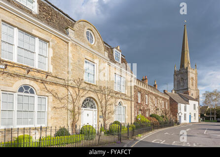 Lechlade on Thames and St Lawrence Church, Gloucestershire, England, UK - Stock Photo