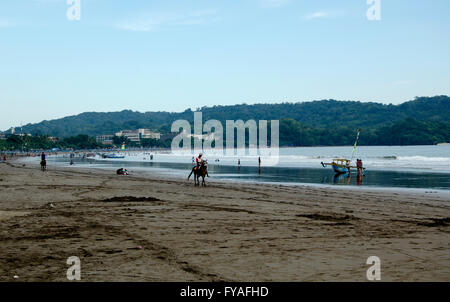 Pangandaran beach one tourist destination in the province of West Java  Indonesian - Stock Photo