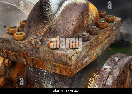 Rusting nuts and bolts. - Stock Photo